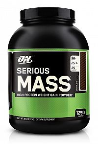 Serious Mass - Optimum Nutrition 5450 g Jahoda