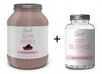 Slim Whey + Fat Burner Zadarmo - Descanti 1000 g + 60 kaps. Triple Chocolate