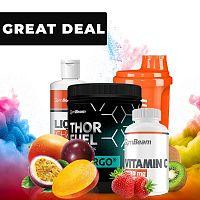 Thor Fuel + Vitargo - GymBeam 600 g Mango Maracuja