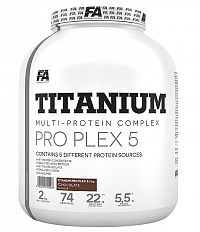 Titanium Pro Plex 5 od Fitness Authority  2000 g Strawberry+Banana