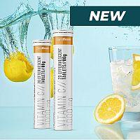 Vitamin C 1000 mg šumivý - GymBeam 20 tbl. Lemon