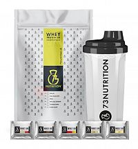 Whey Protein 80 Sample Pack + šejker - 73Nutrition 25 x 25 g Mix