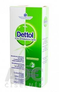 Dettol 0,2% antiseptický sprej aer deo (fľ.HDPE s rozprašovačom) 1x100 ml