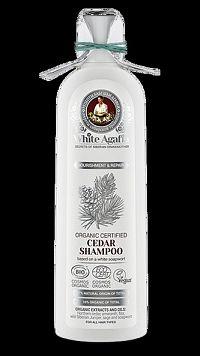 Babička Agafa- White Agafia Cédrový šampón pre všetky typy vlasov- Výživa a obnova- 280ml