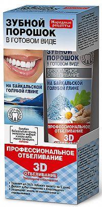 Fitokosmetik Zubný prášok vo forme pasty, Profesionálne 3D bielenie -  45ml