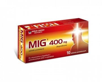 MIG-400 na menštruačné bolesti, bolesť hlavy a zubov – recenzia