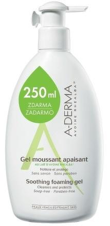 A-DERMA GEL MOUSSANT APAISANT upokojujúci penivý gél na tvár a telo 1x750 ml