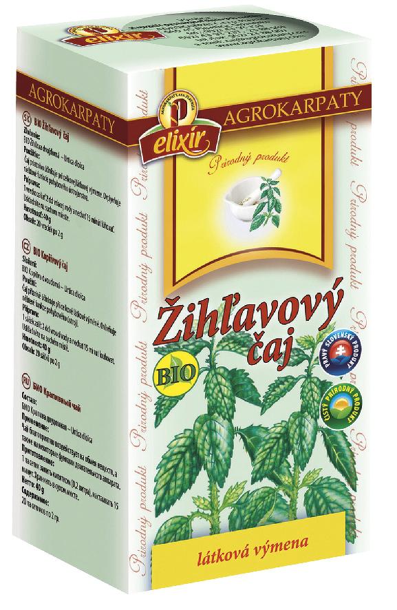AGROKARPATY BIO Žihľavový čaj prírodný produkt 20x2 g