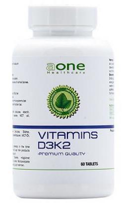 aone Vitamín D3+K2 tbl 1x60 ks