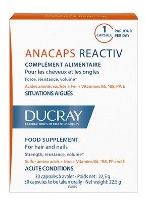 DUCRAY ANACAPS REACTIVcps pre vlasy a nechty 3x30 1x1 set