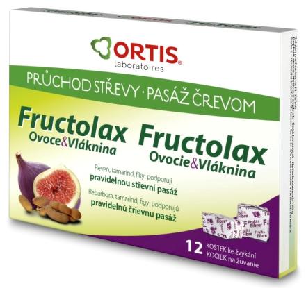 Fructolax Ovocie a vláknina KOCKY 1x12 ks
