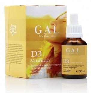 GAL Vitamín D3 4000 IU olejové kvapky 1x30 ml