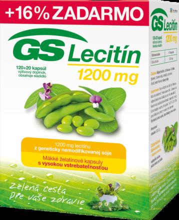 GS Lecitín 1200 cps 120+20 navyše