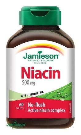 Jamieson Niacín 500 mg s inozitolom 60tbl