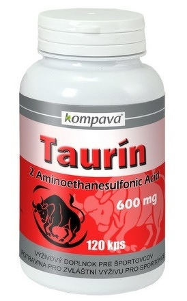 kompava Taurín 600 mg cps 1x120 ks