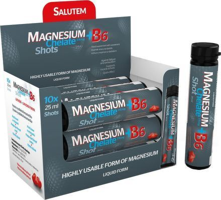 MAGNESIUM Chelate + B6 cherry SALUTEM ampulky na pitie s višňovou príchuťou 1x10 ks