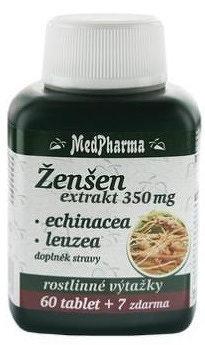 MedPharma ŽENŠEN 350 mg + Echinacea + Leuzea tbl 60+7 zadarmo