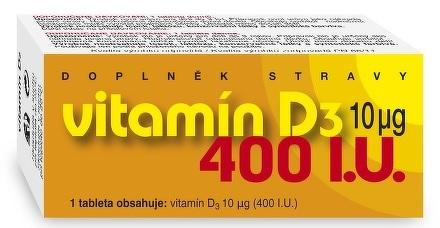 NATURVITA VITAMÍN D3 10 μg tbl 1x90 ks