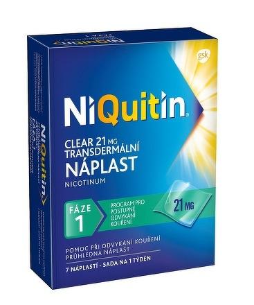 NiQuitin Clear 21 mg emp tdm 1x7 ks