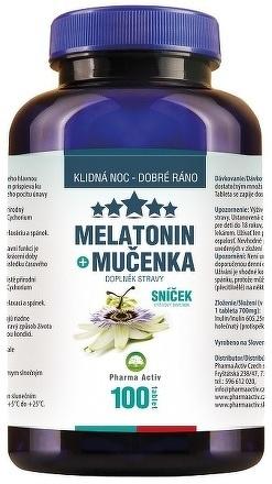Pharma Activ Melatonín Sníček Mučenka tbl 1x100 ks
