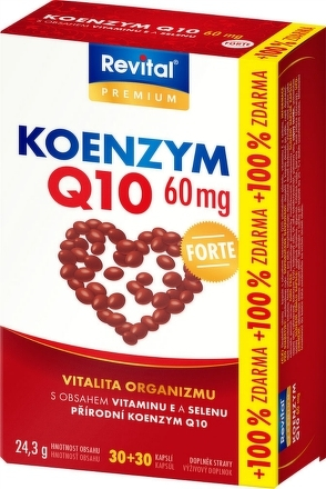 Revital KOENZÝM Q10 60 mg+VITAMÍN E+SELÉN FORTE cps 30+30