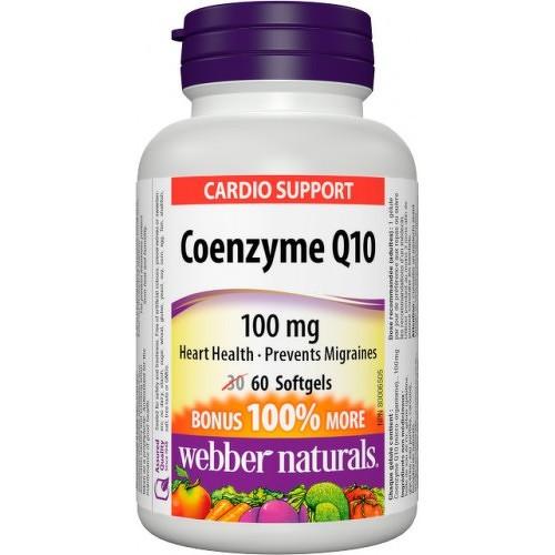 Webber Naturals Koenzým Q10 100 mg - BONUS 30 +30gel