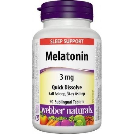 Webber Naturals Melatonin 3 mg tbl 1x90 ks