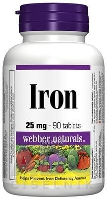 Webber Naturals Železo 25 mg cps 1x90 ks