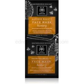 Apivita Express Beauty Honey intenzívna hydratačná pleťová maska 2x8 ml
