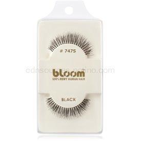 Bloom Natural nalepovacie riasy z prírodných vlasov No. 747S (Black) 1 cm