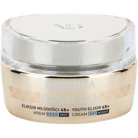 Dermika Gold 24k Total Benefit luxusný omladzujúci krém 45+  50 ml