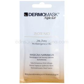 L'biotica DermoMask Night Active liftingová a spevňujúca maska s 24karátovým zlatom 12 ml