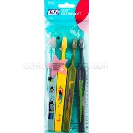 TePe Kids zubné kefky pre deti extra soft 4 ks farebné varianty 4 ks