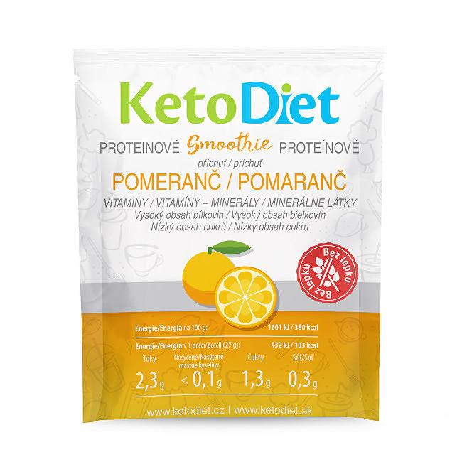 KetoDiet Proteínové smoothie s pomarančovou príchuťou 7 x 27 g