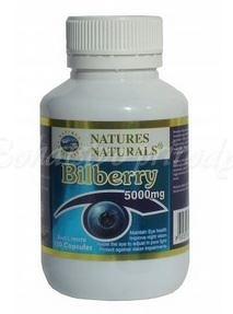Bilberry - čučoriedka 5000mg, 100kps