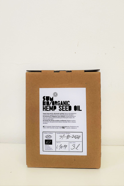 Konopný olej BIO 3l bag in box- SUM