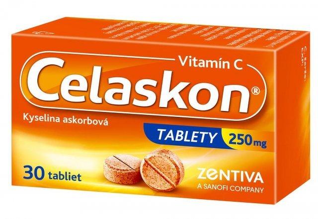 Celaskon tablety 250 mg tbl 250 mg (fľ.skl.hnedá) 1x30 ks