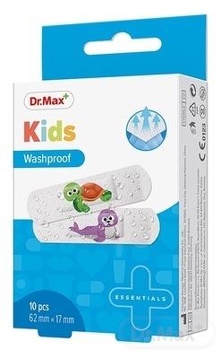 Dr.Max Náplasť Kids Washproof (inov. 2019) 62 x 17mm, umývateľná 1x10 ks