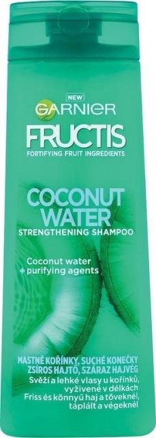 Garnier Coconut Water Strength ening Shampoo na mastné korienky 400 ml