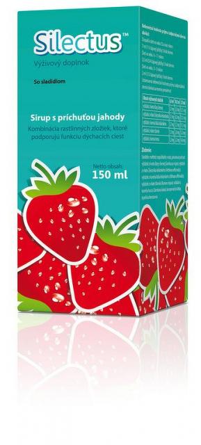 Valeant Silectus sirup s príchuťou jahody Valeant 150 ml
