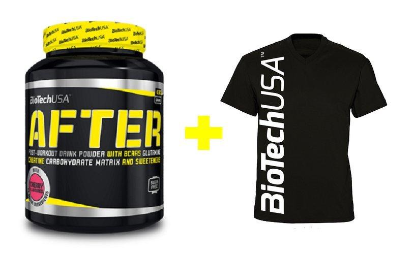 Akcia: After + Pánske tričko - Biotech USA 630 g + tričko L Cherry