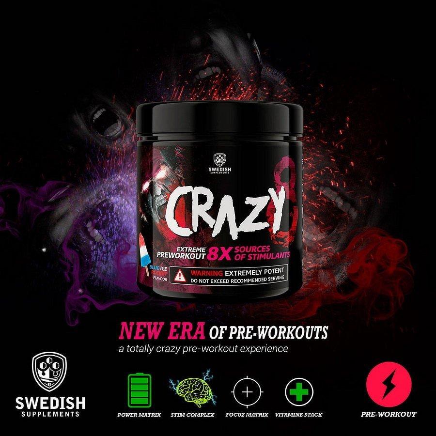 Crazy 8 - Swedish Supplements 260 g Blue Ice Rocket