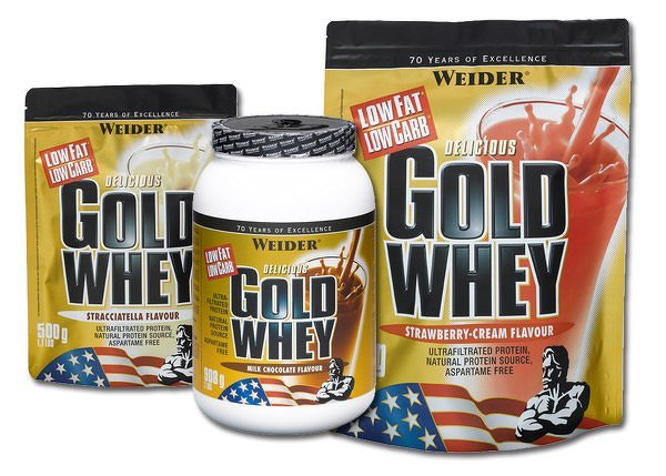 Delicious Gold Whey Protein 80 % - Weider 2000 g sáčok Mliečna čokoláda