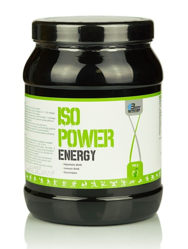 Iso Power Energy - Body Nutrition 480 g Green Apple