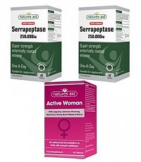 2 ks Super Strength Serrapeptase 250.000iu + Active Woman