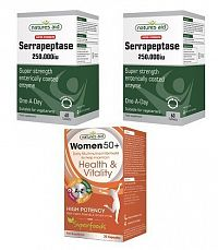2 ks Super Strength Serrapeptase 250.000iu + Women 50+  Daily Multi-nutrient