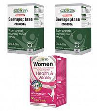 2 ks Super Strength Serrapeptase 250.000iu + Women Daily Multi-nutrient