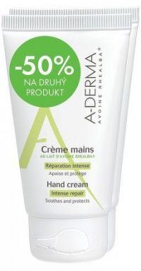 A-DERMA CRÈME MAINS AU LAIT D'AVOINE RHEALBAkrém na ruky2x50 ml 1x1 set