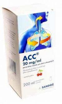 ACC 20 mg/ml perorálny roztok pre deti a dospelých sol por 1x200 ml