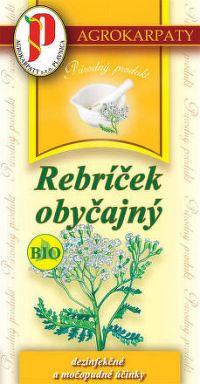 AGROKARPATY BIO Rebríček obyčajný bylinný čaj čistý prírodný produkt 20x2 g